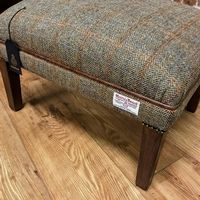 """Harrogate "" Harris Tweed Footstool"